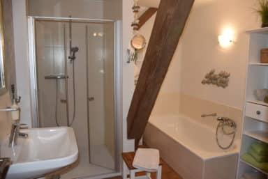Deichblick mit Dusche und Badewanne