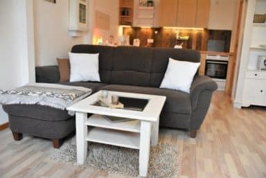 BK Sofa und Küche im Hintergrund